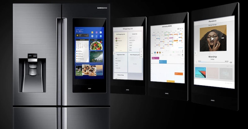 Order Groceries, Play Music, and Call Ubers on this Smart Fridge