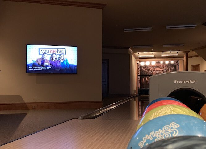 AV Firm Updates AV Distribution System in Texas Home with a Bowling Alley