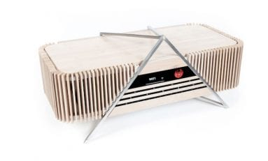 iFi Introduces Bamboo-clad Aurora Wireless Music System