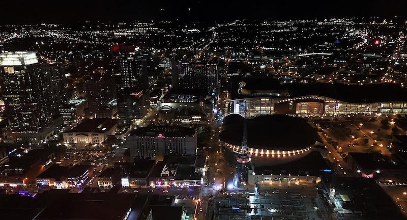 Nashville penthouse view