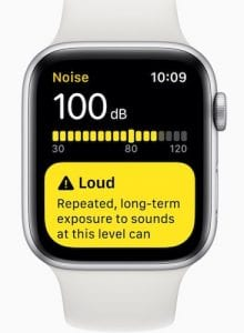 Apple Watch Noise Warning