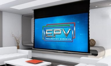 EPV PolarMax Aerie Roll-Up Projection Screen Now Ambient Light Rejecting