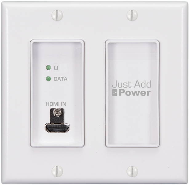 Just Add Power 3G Thin Two-Gang HDMI Wall Plate Transmitter Now Shipping