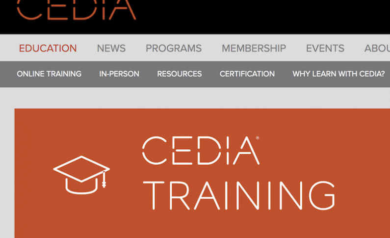 CEDIA Offers Free Online Training for Its Members During COVID-19 Outbreak