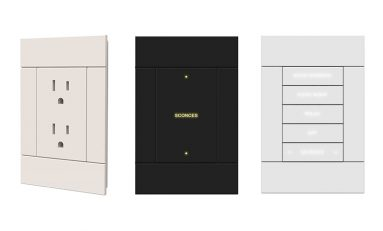 Crestron Offers Matching Horizon Outlets, Dimmers, and Keypads