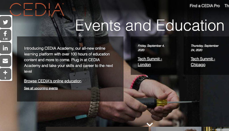 CEDIA Launches New Website and Online Learning Platform