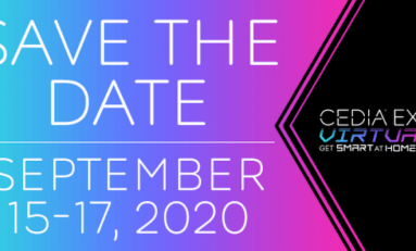 CEDIA Expo 2020 Virtual Dates Set for Mid-September