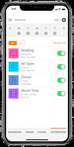 Hunter Douglas - PowerView+ - App - Automations