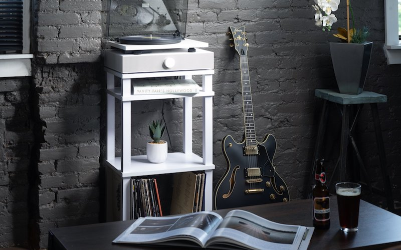 Andover Introduces SpinStand Compact Stand for Audio Components and Records