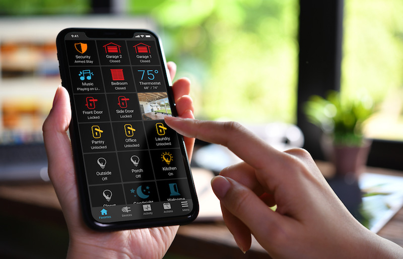 Clare Controls Software Update Integrates Control4 Systems, Smart Garage Doors, and Thermostats