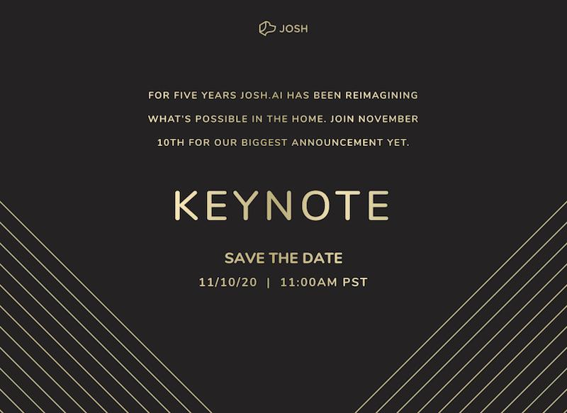 Josh.ai Teases Major Announcement for November Keynote