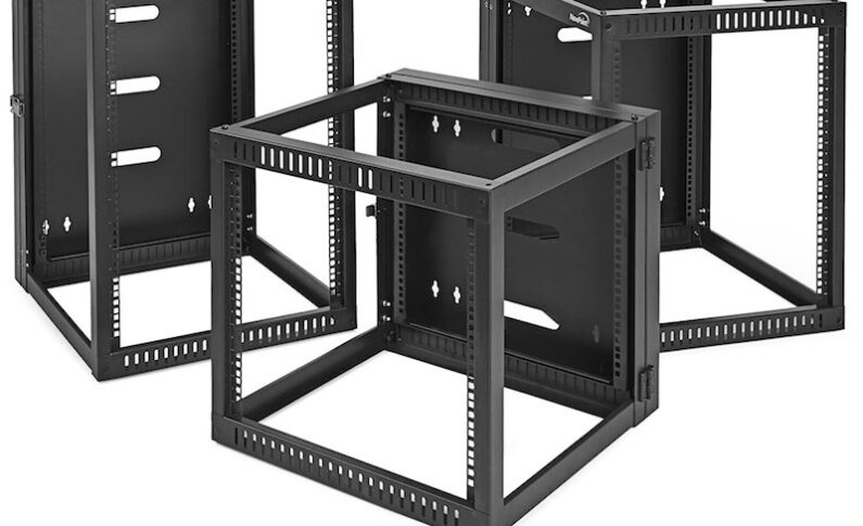 NavePoint Adds Hinged Open Frame Wall-Mount Network Racks