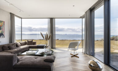 Hiding Loudspeakers Inside Ultra-Modern Icelandic Ocean Villa