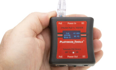 Platinum Tools Develops TPS200C Pocket-Sized PoE++ Tester