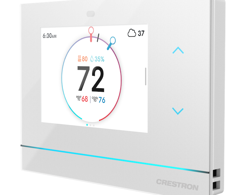 Crestron Horizon Thermostat Offers Premier Aesthetics and Two-Wire Retrofit Design