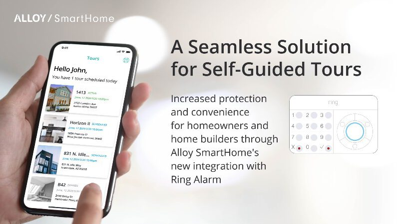 Alloy SmartHome Integrates Ring Alarm for Self-Guided Home Tours