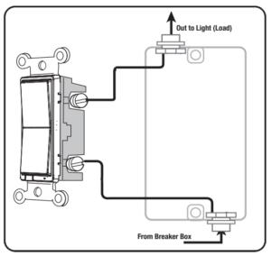 Jasco Switch Wiring