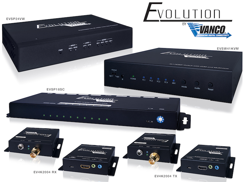 Vanco Adds Four New HDMI Distribution Solutions