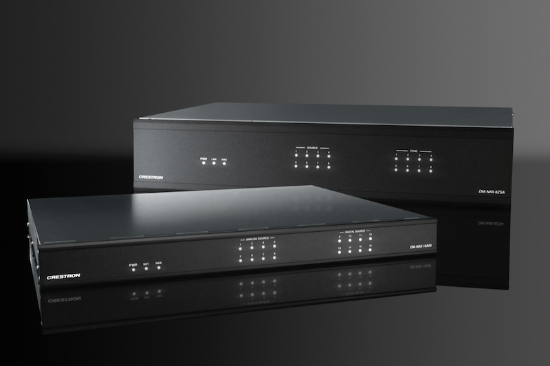 Crestron DM NAX All-in-One Amplifier Scales to 256 Stereo Zones