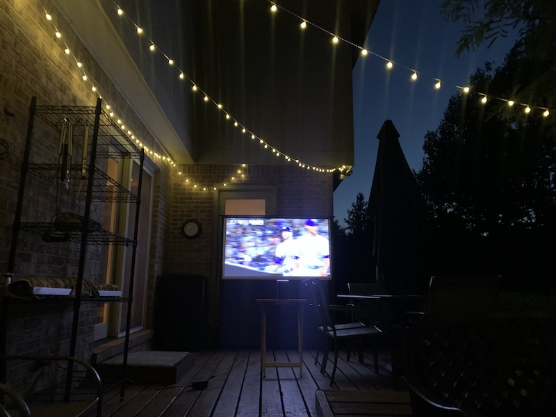 Halo Projector Outdoors