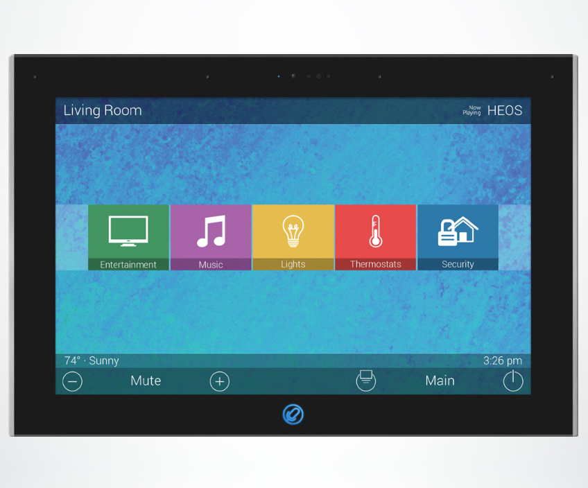 TKP-8600 In-Wall Touch Screen from URC Offers Alexa Voice with Privacy Features