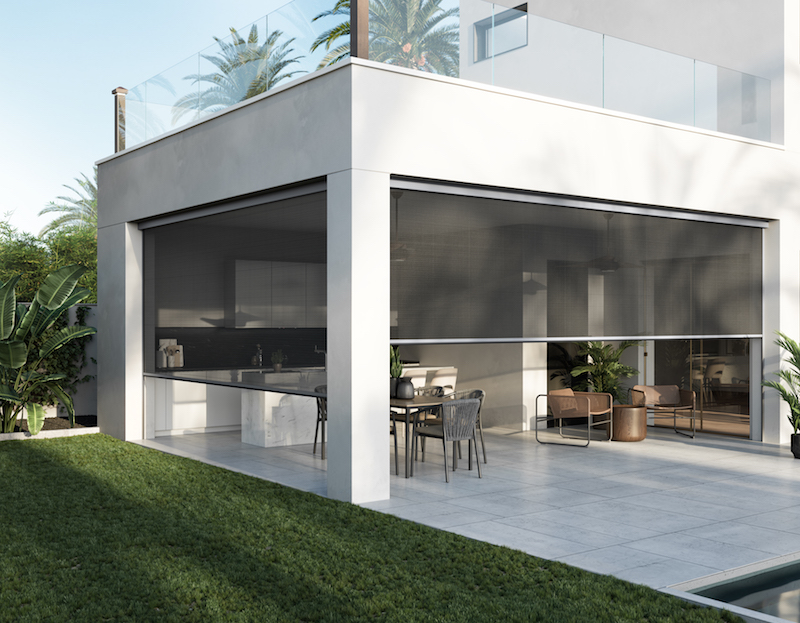 Zen 2 Outdoor Motorized Shading from Screen Innovations Installs in Half the Time